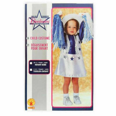 Dallas Cowboy Cheerleader Halloween Costume Girl (Dallas Cowboys Cheerleaders Kids Halloween Costume by Rubies, Size 1-2)