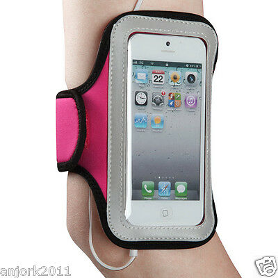 GYM WORKOUT NEOPRENE ARMBAND PINK iPhone 5 iPod Touch 5