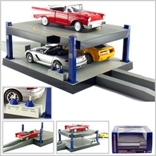 BATTERY OPERATED CAR LIFT 2 FLOORS FOR 1/24 DIECAST CARS SB1