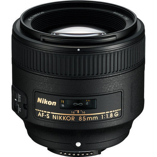 Nikon AF-S NIKKOR 85mm f/1.8G Medium Telephoto Lens Black 2201