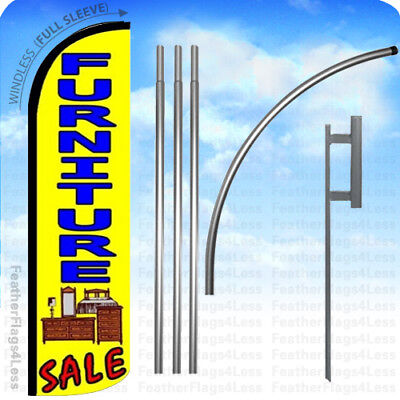 Furniture Sale - Windless Swooper Flag Kit Feather Banner Sign 15 Yz