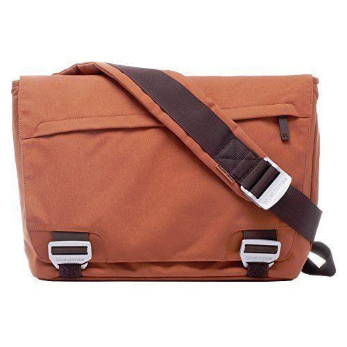 Bluelounge Bonobo Eco-Friendly Recycled PET Messenger Bag Satchel - Rust Orange