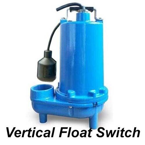 """Submersible SEWAGE TRASH Pump - 2"""" Out - 104 GPM - 115V - Self Priming - V Float"""