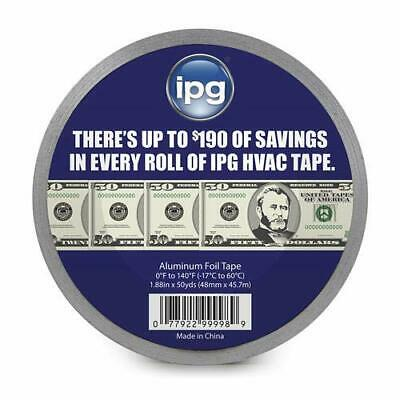 2 Rolls Ipg Aluminum Hvac Foil Tape 0-140 Degrees Cold Weather 1.88 X 50 Yd