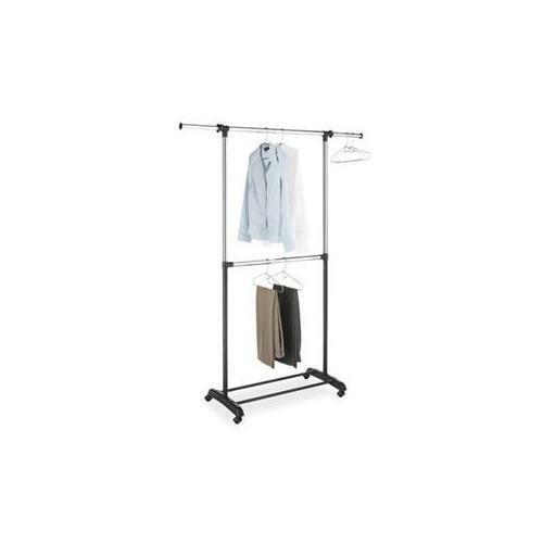 WHITMOR 6021-3081-BB Adjustable Garment Rack 2 Rod