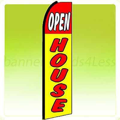 Open House Swooper Flag Feather Flutter Banner Sign 11.5 - Yq