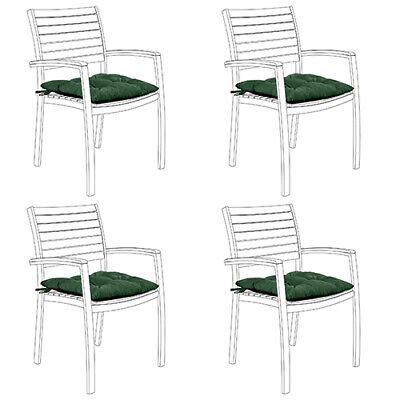 Green 4pk Water Resistant Tufted Indoor Garden Chair Seat Pad Cushion Patio