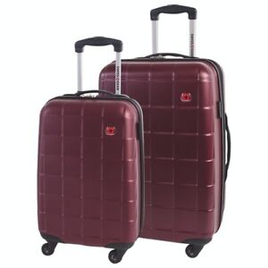 Swiss Gear 2-Pc HardSide 4-Wheel Luggage-Burgundy-NEW IN BOX