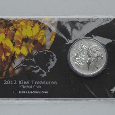 Neuseeland Kiwi - 2012 - Silber Im Blister $1  Munzen- 1 OZ  Kiwi Treasures!!! online kaufen