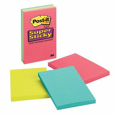 Post-it Super Sticky Lined Jewel Pop Coll Notes - Self-adhesive - 4 6603ssuc