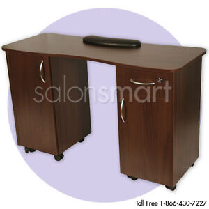 Manicure nail table station beauty salon equipment spa for Nail salon equipment