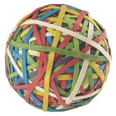 Acco Rubber Band Ball 275 Bands Per Ball Assorted Colors A7072153