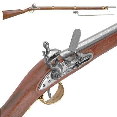 Authentic Revolutionary War Charleville French Musket w/ Bayonet Non-Firing Gun