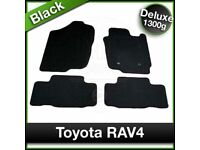 Tailored Fitted DELUXE Mats TOYOTA RAV4 2006 to 2012 Black (unopened still in packaging)