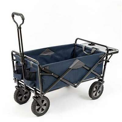 Mac Sports Collapsible Folding Utility Wagon Cart w/ Table,