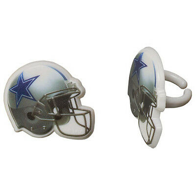 Dallas Cowboy Party Decorations (12 Dallas Cowboys NFL Cupcake Rings Toppers Designer Decorations Party)