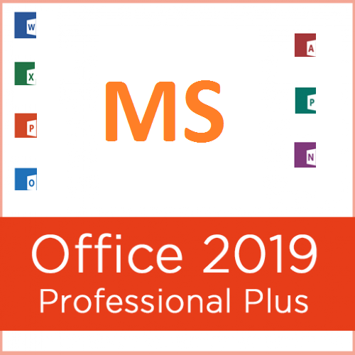 MS Office Pro Plus 2019 - Genuine License 1 PC Install w/ Disk