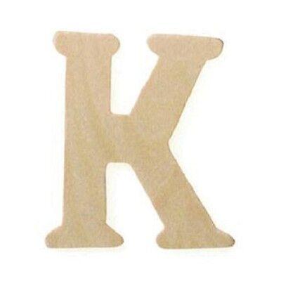 Miniature Wood Letter K Cutouts 3/4 inch 5pc Wedding Favors Crafts Parties   BL (Letter Cutouts)