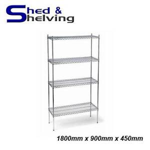 Chrome Wire Mesh Shelving Kitchen, Laundry 3 sizes ON SALE from Bibra Lake Cockburn Area Preview