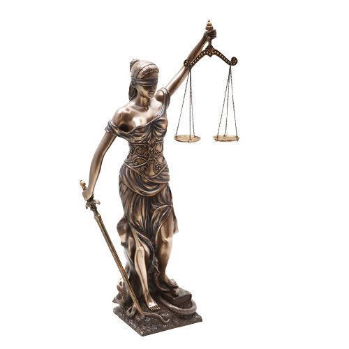 "32"" Blind Lady Scales of Justice Statue Lawyer Attorney Judge Figurine"