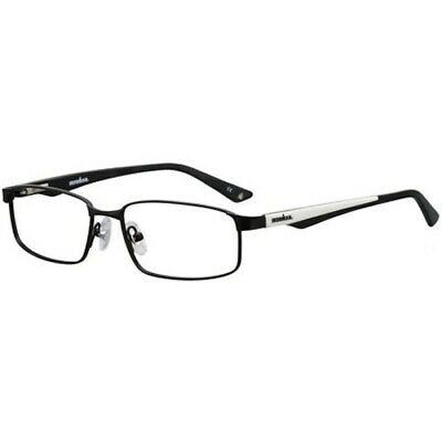 IRONMAN Mens RXABLE EYEGLASS FRAMES 101 BLACK/WHITE 53-16-140 NWT VHT $76 (White Eyeglass Frames For Men)