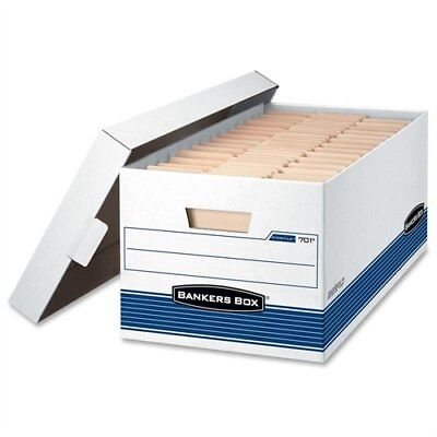 Bankers Box Storfile - Letter Lift-off Lid 4pk - 650 Lb - Stackable - Medium