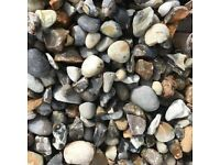 20 mm pearl grey shingle garden and driveway chips/ stones/ gravel