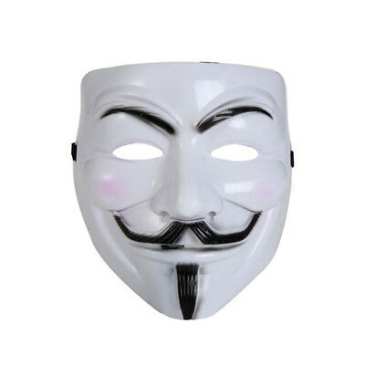 V for Vendetta Mask Adult Mens Guy Fawkes Anonymous USA Occupy Halloween Costume (Anonymous Mask Halloween Costume)