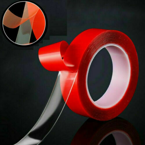 MAGIC Double sided Grip Tape Washable Traceless Adhesive Tape Nano Invisible Gel Red1mm*1cm*3M