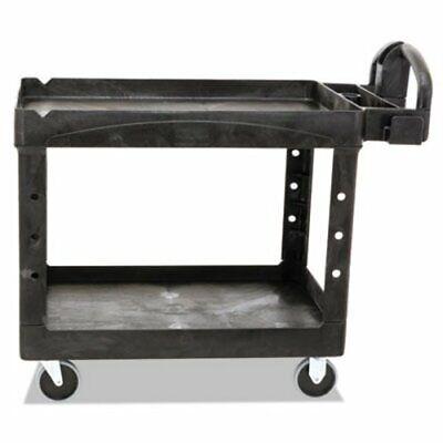 Rubbermaid Heavy Duty 2-shelf Medium Utility Cart Black Rcp 4520-88 Bla
