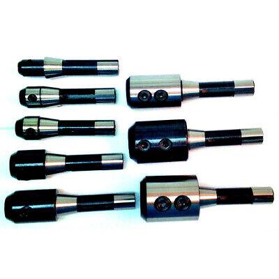 8 Piece R8 End Mill Holder Set 316 Thru 1-14 Hole Rb8