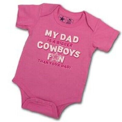 Baby Girl Dallas Cowboys (Dallas Cowboys NFL Girls infant 24 Months One Piece Pink