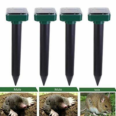 BESTINE Solar Mole Repeller IP65 Waterproof Ultrasonic Power Animals Repeller