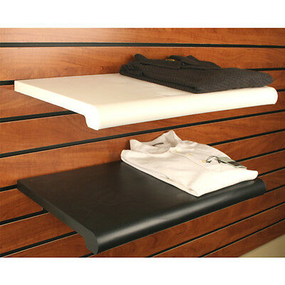 """Black Bullnose Plastic Shelf - Brackets Are Not Included - 13"""" x 24"""" - 4 Pieces"""