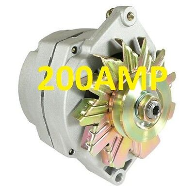 200AMP HIGH OUTPUT  ALTERNATOR  3 WIRE SYSTEM FOR CHEVY GM BUICK 1100143, 110014 Gm High Output Alternator