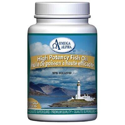 Hi-Potency Fish Oil - 90 caps - Omega Alpha Human Health Formula