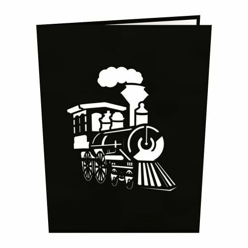TRAIN Lovepop Card Everyday Greetings Note Tab Popup 3D Free Shipping