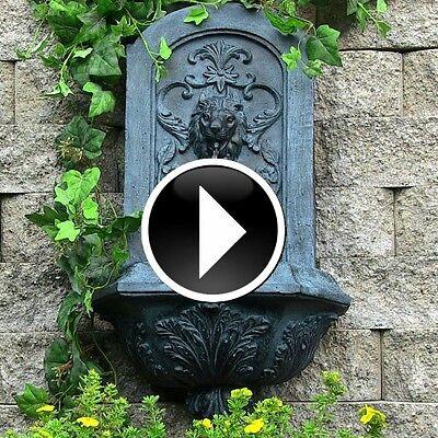 Alfresco Wall Floor Fountain Garden Water Feature Fountains Patio Waterfall Decor