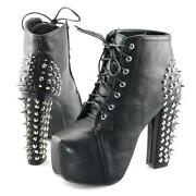 Ladies Platform Ankle Boots