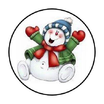48 Snowman 6 !!!  ENVELOPE SEALS LABELS STICKERS 1.2
