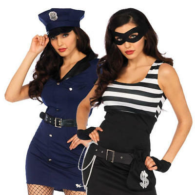 Cops and Robbers Ladies Fancy Dress Adults Wonderland By Leg Avenue Costumes