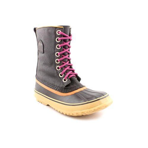 womens sorel boots black ebay