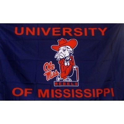 OLE MISS REBELS FLAG 3'X5' COL REB BANNER: FAST FREE SHIPPING](Ole Miss Flag)