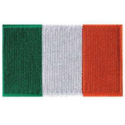 "IRELAND FLAG EMBROIDERED PATCH IRISH HERITAGE EIRE TRICOLOUR IRON-ON EMBLEM 4"""