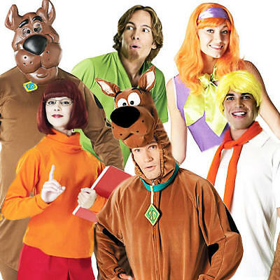 Halloween Fancy Dress 80s Mens Ladies Adults Costume Outfits (Halloween-kostüme Scooby Doo)