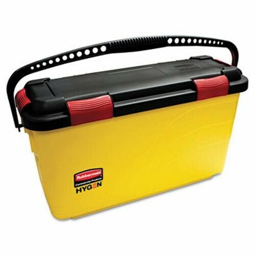 Rubbermaid Q95088 Hygen Charging Bucket, Yellow (RCPQ95088YW)