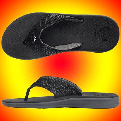 New Reef Rover 2295 BLA Black Flip Flops For Men Sandals All Sizesכפכפי ריף