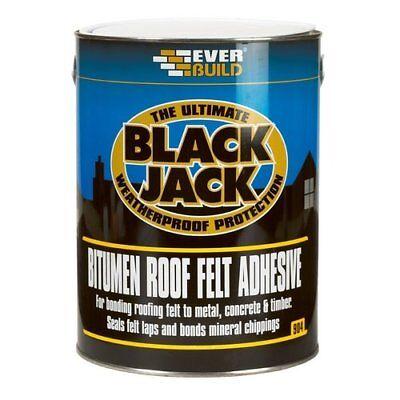 EVERBUILD BLACK JACK 904 BITUMEN ROOF FELT ADHESIVE 1 LITRE