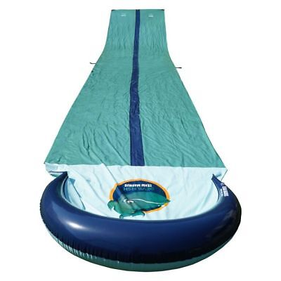 XXL Team Magnus Slip and Slide with Dual Racer Lanes & Water-Spraying Channel