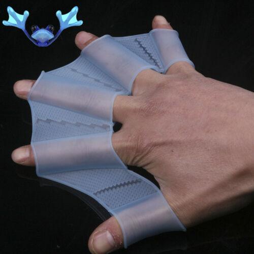 Schwimmhandschuhe Handpaddel Schwimmhäute Silikon Fingerlose Handschuhe Flossen